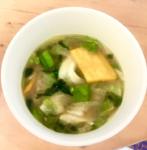 味噌汁の具材の参考になりました。7種類の野菜の味噌汁 セブンイレブン
