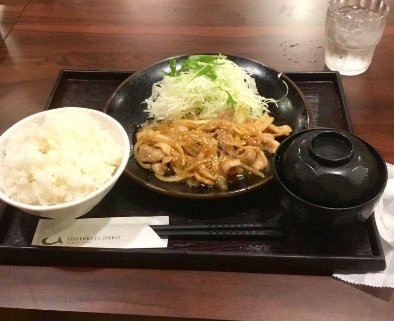 定食屋ジンベイの生姜焼き