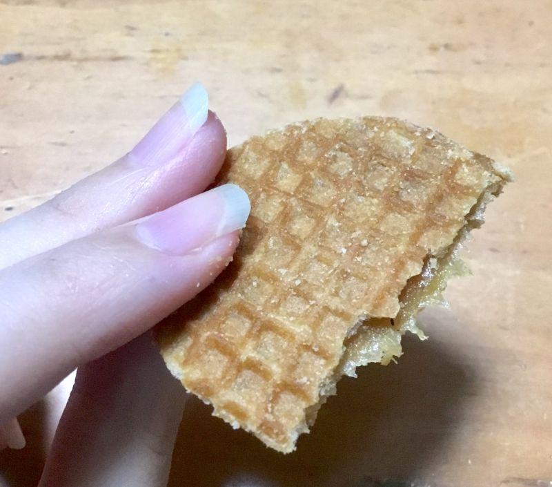 キャラメルのクッキーミニワッフル