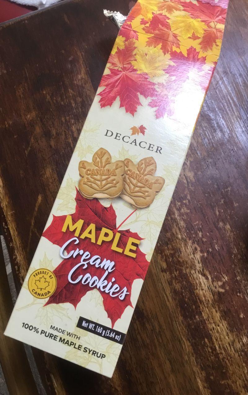 メープルがとても濃い味。クッキー
